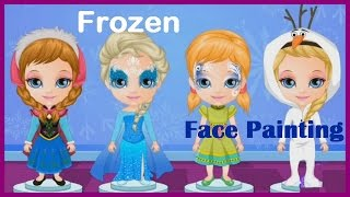 getlinkyoutube.com-Baby Barbie Game Movies & Frozen Face Painting Video Play | Kids Games Online Face Painting Art