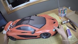 getlinkyoutube.com-Building the McLaren P1 Paper-Super-Craft . Artist POV
