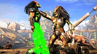 getlinkyoutube.com-Mortal Kombat X Predator Time to Bleed Brutality on All Characters