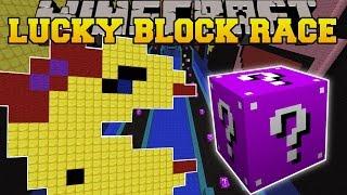 getlinkyoutube.com-Minecraft: EPIC PACMAN LUCKY BLOCK RACE - Lucky Block Mod - Modded Mini-Game
