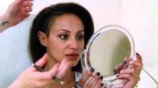 getlinkyoutube.com-Eyebrow Tattoo with Amelle Berrabah Sugababes.mp4