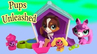 getlinkyoutube.com-LPS Pups Unleashed Playset Collie Puppy Dog Fox Play Clubhouse Playdoh Cookieswirlc