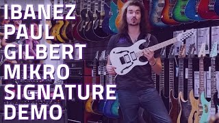 Ibanez Paul Gilbert Mikro Signature Electric Guitar Demo