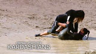 getlinkyoutube.com-KUWTK | Khloe Tackles Kim on a Mud Run | E!