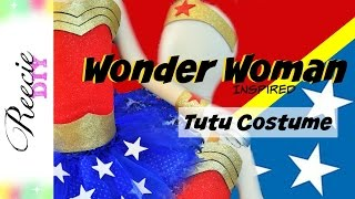 getlinkyoutube.com-How to make a Wonder Woman Costume Tutu