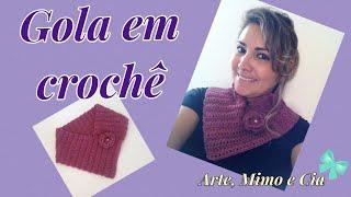 getlinkyoutube.com-Gola de Crochê - Arte, Mimo e Cia