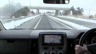 デリカ D5 クリーンディーゼル  高速走行 冬