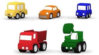 getlinkyoutube.com-3D музыкальный мультфильм 4 машинки. Учим цифры: песенка про 5 машинок