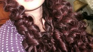 getlinkyoutube.com-New No heat curly-wavy hair tutorial- No products, no curlers, no french braiding
