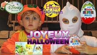 getlinkyoutube.com-[OEUF] Halloween - Kinder Surprise Maxi , 3 Oeufs Surprise Disney Fairies - Kinder Surprise Eggs