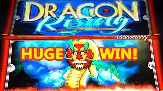 getlinkyoutube.com-HUGE WIN!!! - DRAGON RISING Slot - MAX BET!!!! - Slot Machine Bonus
