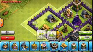 getlinkyoutube.com-Clash Of Clans - TH8 Clan Wars Base (After Hog Update, July 2014) Spider Web