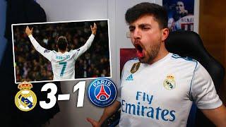 REACCIONES DE UN HINCHA REAL MADRID vs PSG 3-1   OCTAVOS DE FINAL CHAMPIONS LEAGUE