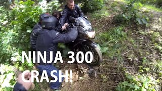 getlinkyoutube.com-NINJA 250 CRASH!!!!!!!!!