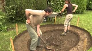 getlinkyoutube.com-Construire bassin de jardin avec liner