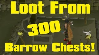 getlinkyoutube.com-Runescape Loot From 300 Barrow Chests (2007)