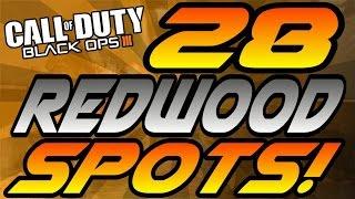 getlinkyoutube.com-ALL 28 Redwood Spots! - BO3 (Hiding Spots, Lines of Sight, Jumps) - Black Ops 3