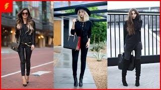 getlinkyoutube.com-How to Wear All Black Outfit for This Season