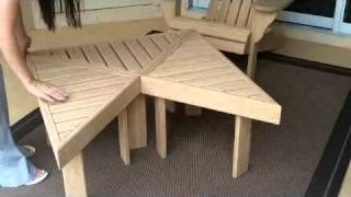 getlinkyoutube.com-Bamboo Adirondack Chair & Tables