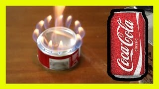getlinkyoutube.com-Coke Can The Perfect Alcohol Stove cocacola ♻