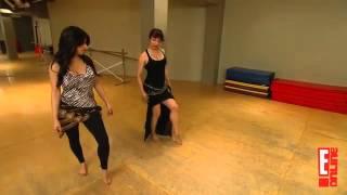 getlinkyoutube.com-Kim takes belly dancing classes