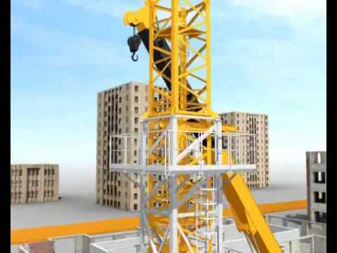 Tower Crane Assembly with Climber Demo