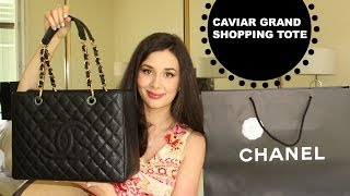 getlinkyoutube.com-Chanel Handbag Haul: Grand Shopping Tote Unboxing