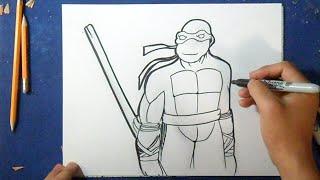 getlinkyoutube.com-Como desenhar o tartaruga ninja