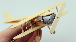 getlinkyoutube.com-How to Make A Plane With DC Motor - Toy Wooden Plane DIY