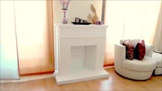 getlinkyoutube.com-DIY CRAFTS: Decorative cardboard fireplace - Isa ❤️