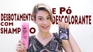 getlinkyoutube.com-Desbotando o cabelo com shampoo e pó descolorante por Branca Make-up