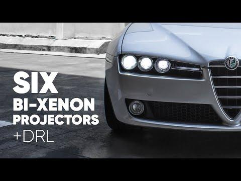 6 bi-xenon + DRL Alfa Romeo 159 (retrofit custom headlights)