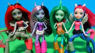 getlinkyoutube.com-New Monster High Fright-Mares Horse Dolls Deboxing Toy Review