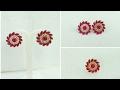 How To Make Paper Earrings  Paper Jewellery Making  Designer Earrings MakingHome Made Tutorial