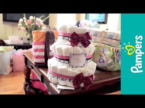 Ideas Para Baby Shower: Pastel de Pañales | Pampers