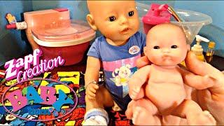 getlinkyoutube.com-Zapf Creations Baby Born Boy Doll Flynn's DITL with Feeding, Changing, and Bath