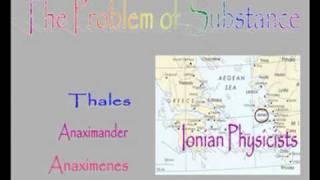 PreSocratics The Problem of Substance width=