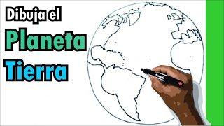 getlinkyoutube.com-Aprende a dibujar facil - dibujo del planeta tierra - globo terraqueo - earth