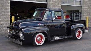 getlinkyoutube.com-1956 Ford F100 Custom Cab Pickup V8