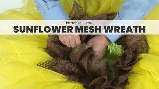 getlinkyoutube.com-How to make a Sunflower Mesh Wreath