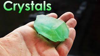 getlinkyoutube.com-How to Grow Green Single Crystal of Mohr's Salt at Home? DIY homemade!