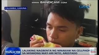 Lalaking Nag Benta Umano ng Nakaw na Cellphone, Nahuli Mismo ng May Ari