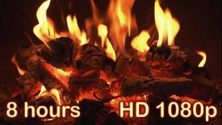 getlinkyoutube.com-✰ 8 HOURS ✰ Best Fireplace HD 1080p video ✰ Relaxing fireplace sound ✰ Full HD