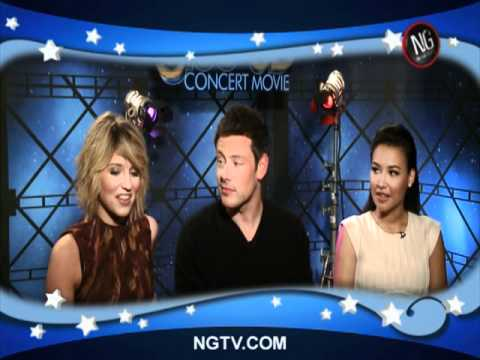 The cast of GLEE get down with Carrie Keagan!!