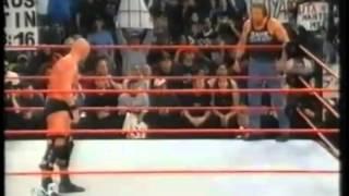 getlinkyoutube.com-Triple-H Screws Stone Cold of the WWF Title Raw January 8th 2001