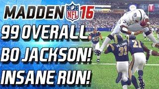 getlinkyoutube.com-99 OVERALL BO JACKSON! HURDLED TWO PLAYERS! INSANE RUN! -  Madden 16 Ultimate Team -