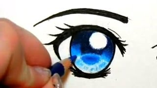 getlinkyoutube.com-How to Colour Eyes with Pencil Crayons