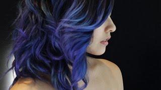 getlinkyoutube.com-How I Did My Purple-Blue Hair (Manic Panic)