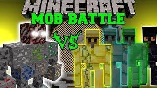 getlinkyoutube.com-ORE BOSS VS DIAMOND GOLEM, EMERALD GOLEM, & OBSIDIAN GOLEM - Minecraft Mob Battles - Mods