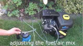 getlinkyoutube.com-How to run a Engine with a Butane Blowtorch